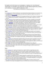 Compilatie met informatie over mogelijke gevaren ... - StopUMTS.nl