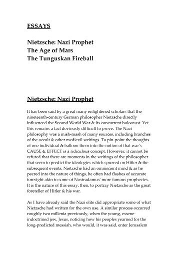 quoted essays nietzsche source essays nietzsche nazi prophet the age of mars damowords