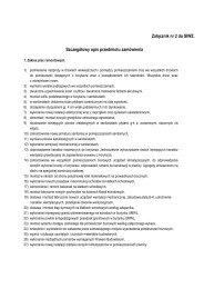 Załącznik nr 2 do SIWZ. Szczegółowy opis przedmiotu zamówienia
