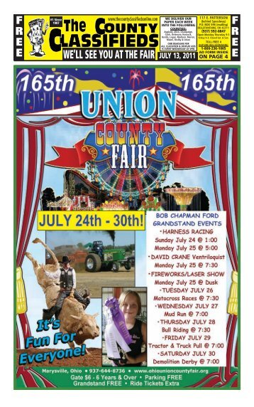 WE'LL SEE YOU AT THE FAIR - The County Classifieds Online