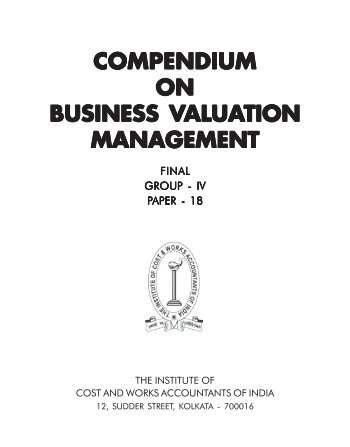 Business Valuation Management - Icwai