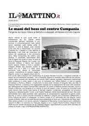 Le mani del boss sul centro Campania - Sos Impresa