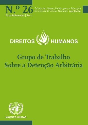 O Grupo de Trabalho sobre Detenção Arbitrária - Direitos Humanos