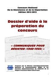 Dossier CNRD 2012-2013 PACA - ONAC