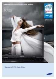 Samsung X60 Data Sheet - CNET Content Solutions
