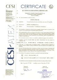 CESI 03 ATEX 266 - BARTEC NEDERLAND bv