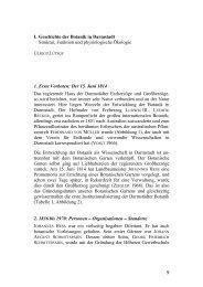 I. Geschichte der Botanik in Darmstadt Struktur, Funktion und ...