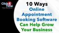 10 Ways Online Appointment Booking Can Help Grow Your Business