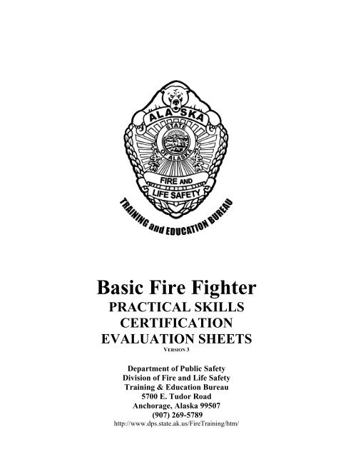 Basic Fire Fighter - Alaska Department of Public Safety