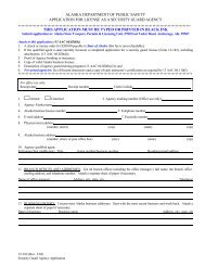 New Agency Application - Alaska Department of Public Safety