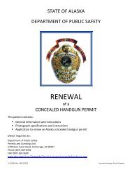 Application for Permit Renewal - Alaska Department of Public Safety