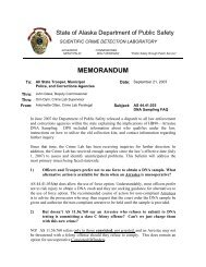 MEMORANDUM - Alaska Department of Public Safety - State of Alaska
