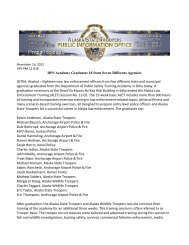 DPS Academy Graduates 18 from Seven Different Agencies - Alaska ...