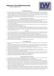 Allgemeine Geschäftsbedingungen - LW Systemtechnik GmbH