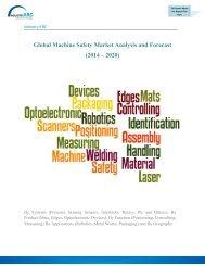 Global Machine Safety Market Analysis and Forecast (2014 – 2020)