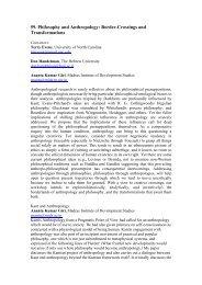 59. Philosophy and Anthropology: Border-Crossings - European ...