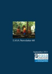 EASA NEWSLETTER SEPTEMBER 2013 Table of contents 1. Letter ...