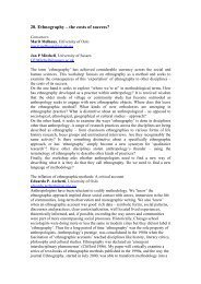 28. Ethnography – the costs of success? - European Association of ...