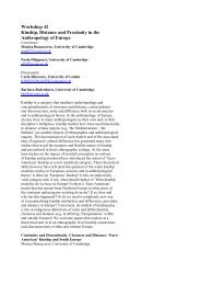 Workshop 42 Kinship, Distance and Proximity in the Anthropology of ...