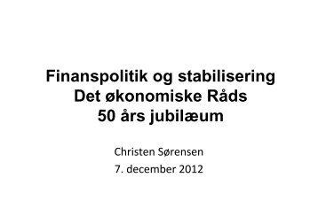 Christen Sørensen - De Økonomiske Råd