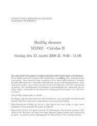 Eksamensopgaverne - Institut for Matematik og Datalogi - Syddansk ...