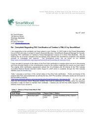 Re: Complaint Regarding FSC Certification of ... - FSC Watch