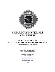 hazardous materials awareness - Alaska Department of Public Safety