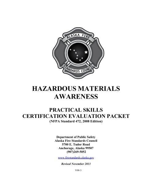 hazardous materials awareness - Alaska Department of Public Safety