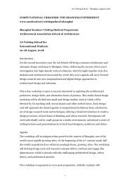 COMPUTATIONAL URBANISM: THE SHANGHAI EXPERIMENT ...