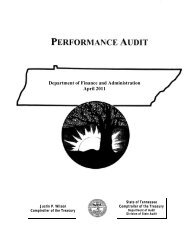 Department of Finance and Administration April 2011 - Tennessee ...