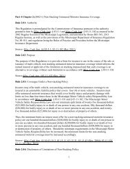 1 Part 4 Chapter 2 - Mississippi Department of Insurance