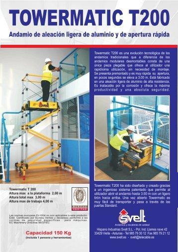 Ficha técnica Towermatic T200 - Logismarket
