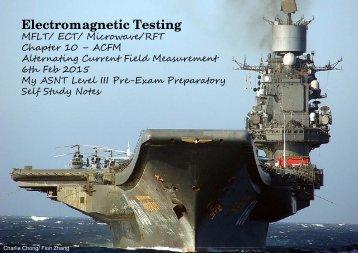 ACFM Nondestructive testing