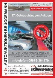 Bericht Auktionskatalog (PDF) ohne Kopf - Autohaus Brüggemann