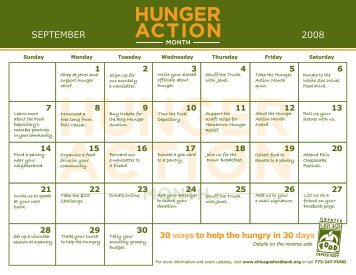 calendar - Greater Chicago Food Depository