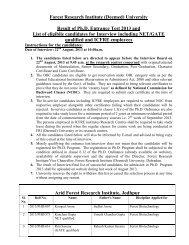 Result of Ph.D. Entrance Test 2013 and