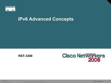 IPv6 Advanced Concepts
