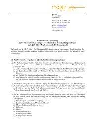 mofair Verordnung wettbewerbliches Vergabeverfahren 16.9.2008