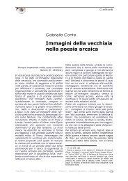 Immagini della vecchiaia nella poesia arcaica - Amaltea