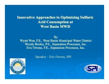 Innovative Approaches to Optimizing Sulfuric Acid Consumption at ...