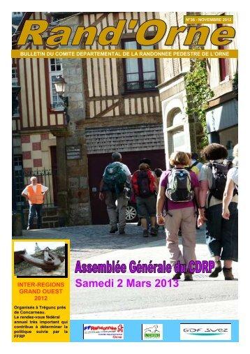 Samedi 2 Mars 2013 - Comité Départemental de Randonnée ...
