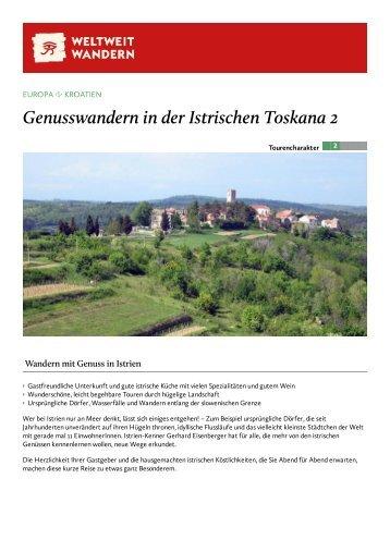 Genusswandern in der Istrischen Toskana 2 - Weltweitwandern