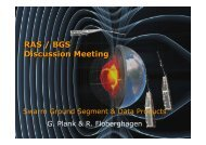 Swarm Ground Segment & Data Products