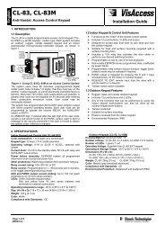 CL-83, CL-83M - Visonic Technologies
