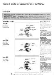 Teste di biella e cuscinetti sferici JOINBAL - SIT SpA