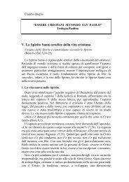 05) Lo Spirito Santo artefice della vita cristiana - Symbolon.net