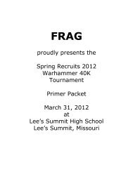proudly presents the Spring Recruits 2012 ... - FrostReaver.Net