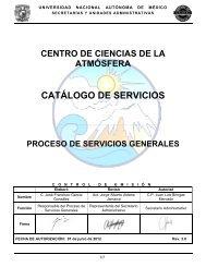 Servicios Generales - Centro de Ciencias de la Atmósfera ...