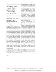 Zoning and Land Use Planning - Land Use Law