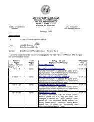 Revision No. 2 - January, 2012 - Office of State Personnel